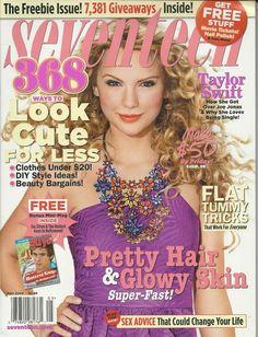 Taylor Swift in Seventeen magazine