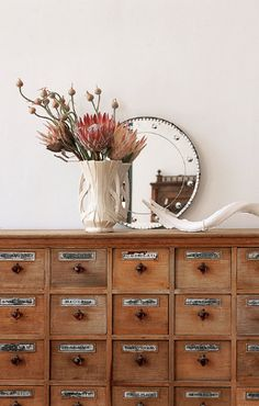 I would love one of these library style card cabinets for a coffee table or a…