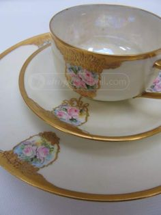 shopgoodwill.com: Haviland France Very Fancy Cup Saucer Treat Dish