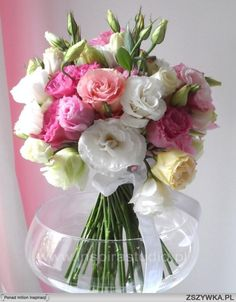 pink lisianthus and rose wedding bouquet - Google Search