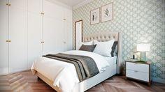 Фотография: Спальня в стиле Современный, Квартира, Проект недели, Co:Interior, сделать из однушки двушку, новостройка, ЖК «Водный» – фото на InMyRoom.ru