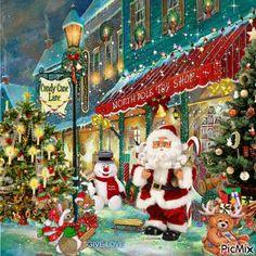 gif p re no l santa claus papai noel - Page 10 Merry Christmas Gif, Christmas Scenes, Cozy Christmas, Vintage Christmas Cards, Christmas Wishes, Christmas Greetings, Beautiful Christmas, Xmas, Merry Christmas Animation