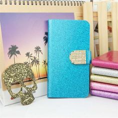 Luxury Bling Glitter Flip PU Leather Cover Case For HTC Desire Eye Full Protector Original Stand Book Shining Skin Cover Leather Cover, Pu Leather, Lg K10, Htc One M9, S5 Mini, Bling, Beautiful Cover, Samsung Galaxy S5, Glitter