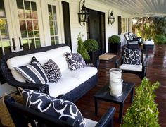 Talk of the House » Black and White Porch