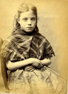 At the young age of 11, Ellen was ordered to do 7 days hard labour after being convicted of stealing iron when caught with Mary Catherine Docherty, Rosanna Watson and Mary Hinnigan.     Height: 4.3  Hair: Red  Eyes: Dark Blue  Place of Birth: Durham  Status: Single    These photographs are of convicted criminals in Newcastle between 1871 - 1873.