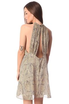 Snake Print Chiffon Dress - 3 Colors