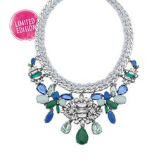 Aquamarine Deco Cluster Drama Necklace | Your Merchandiser is me! Click the pic, sign in and get shopping before our Limited Edition jewels run out!!