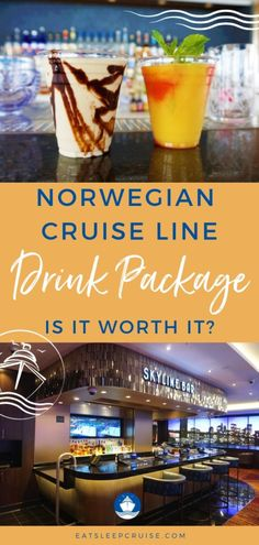 """Our complete analysis will help you answer the question, """"Is the Norwegian Cruise Line Drink Package Worth It?"""". Cruise Checklist, Packing List For Cruise, Cruise Tips, Cruise Travel, Cruise Vacation, Cruise Planners, Ice Bars, Bahamas Cruise, Norwegian Cruise Line"""