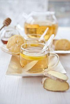 """Het lekkerste recept voor """"Verse gemberthee met citroen"""" vind je bij njam! Ontdek nu meer dan duizenden smakelijke njam!-recepten voor alledaags kookplezier!"""