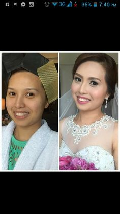 Our other bride earlier. The super pretty Aiza. Hairstyle by Aya and make up by yours truly. Congrats again Aiza and Marvin.. ;)   CJ Jimenez Make Up Team: 1. Exceptional Portfolio 2. Consistent, More than A Thousand, Unsolicited and Real Time Positive Clients Feedback 3. Numerous Credentials:  Pond's Beauty Ambassador (1 of only 16 HMUAs in the Philippines) Bridal Make Up Artist of the Year- Top Brands Most Sought After Supplier / Top Booker for HMUA category- Weddings and Debut 2013 Image…