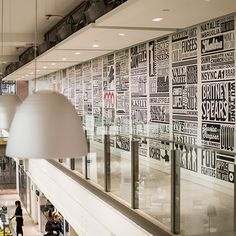 Split into decades, Fowkes has used 54 columns, each over 2 metres high, and covered over 150sqm of wall space in vinyl (how appropriate) to tell the story of one of the biggest music empires in history...