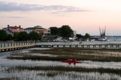 Kayakers on Shem Creek: Paddle with the kayakers on Shem Creek in Mt. Pleasant, SC & view the historic sights of Charleston and indigenous nature along the way.