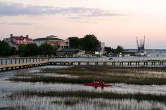Charleston, Shem Creek, high tide