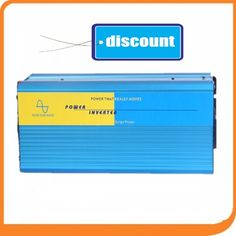 Free Shipping New Arrive 3000W Power Inverter Pure Sine Wave Invertor DC 12V to AC 220V Solar/Wind/Car/Gas Power Converter