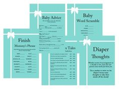 Baby Shower Ideas on decorations, over 50 baby shower themes, Download FREE Printable Baby Shower Games and baby shower Favors