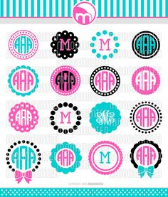 Circle Monogram Frame SVG Cut Files for Vinyl Cutters, Screen Printing, Silhouette, Die Cut Machines, & Cricut Monogram, Monogram Alphabet, Monogram Decal, Monogram Frame, Cricut Vinyl, Monogram Shirts, Monogram Fonts, Diy Monogram, Cricut Fonts