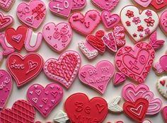 CUTE #heart #valentine #cookies decorating ideas!
