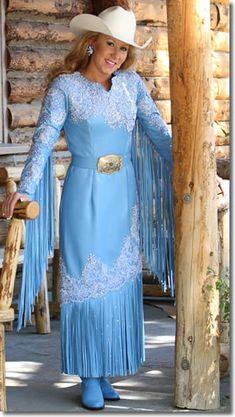 Miss Rodeo Utah 2009 wears a Medium Blue Lambskin Leather Dress