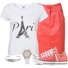 With shorts or coral jeans