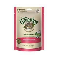 GREENIES Feline Dental Treat Savory Salmon - 2.5 Oz, Pack of 9 -- Learn more by visiting the image link. (This is an Amazon affiliate link)