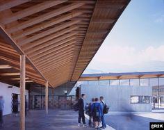 Le Courrier de l'Architecte | Du Gymnase à l'Hôtel de ville, lumière et bois à tous les étages