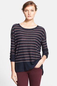 Stripe Wool Blend Sweater by VINCE. on @nordstrom_rack
