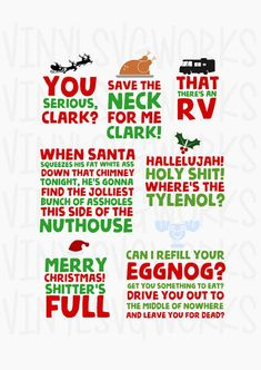 Christmas Vacation party SVG FILE PACK instant download cricut silhouette vinyl Clark Griswold #ad