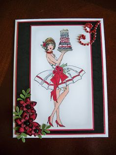 Frou-Frou Stamps Martini Girl