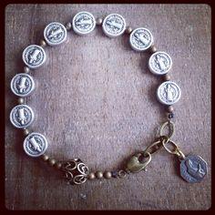 ST. BENEDICT Chaplet Bracelet by rosarium on Etsy