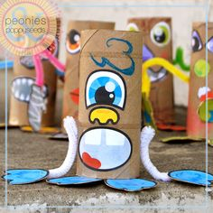 we made tp roll monsters (tutorial and printable parts at www.peoniesandpoppyseeds.com )