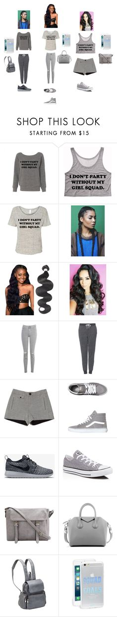 """squad goals"" by holmesisis ❤ liked on Polyvore featuring beauty, J Brand, Topshop, rag & bone, Vans, NIKE, Converse, Givenchy, Le Donne and Sonix"