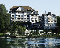 Park Hotel Weggis on Lake Lucerne in Weggis, Switzerland just outside of Lucerne. A magical place. Great spa, restaurant and Vinothek! Art Nouveau, Hotels, Park Hotel, Oh The Places You'll Go, Slovenia, Adventure Travel, Travel Inspiration, Facade, Beautiful Places