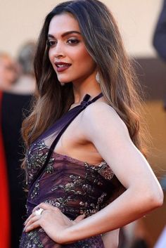 Deepika Padukone at the red carpet of the Cannes Film Festival 2017