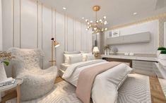 """2,185 curtidas, 27 comentários - Interiores e Decor (@interior.inspira) no Instagram: """"Inspiração linda de quarto com toques Gold! ⠀ Autoria: @carolinesautchuk Confira também: Ig do…"""""""