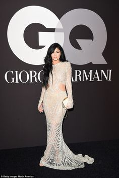 In the firing line: Kylie has come under scrutiny for her relationship with Tyga, who at 2...