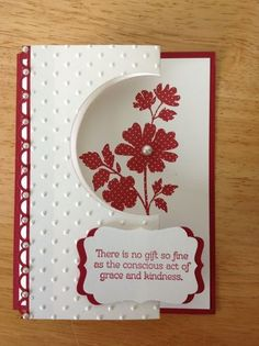 Stampin Up handmade Thank you card fun fold with by treehouse05