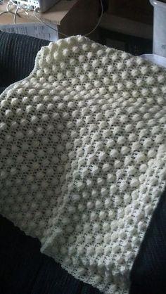 Bobbeltjes deken haken. ook leuk als babydekentje.