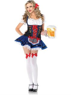 PIN10 for 10% off! Flirty Frauline German Beer Girl Adult Costume - Leg Avenue. Teezerscostumes.com