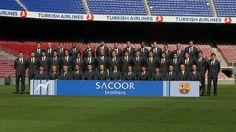 Els jugadors del Barça, vestits de gala