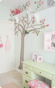 3D Tree mural