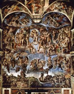 Michelangelo (Buonarroti) - Sistine Chapel: The Last Judgement