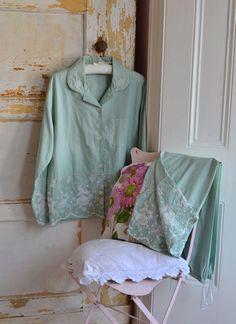 Julia Cotton Pajamas Green