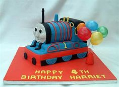 thomas the tank engine birthday cake from sugarlicious ltd