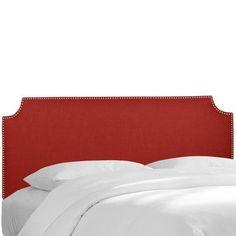 Wayfair Custom Upholstery Melissa Upholstered Panel Headboard Upholstery: Duck Red, Size: California King