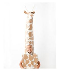 Giraffe Costume | Before the kids scour the neighborhood for candy, they're going to need some spooky (but simple) threads. We've assembled some easy Halloween costumes to help you out.
