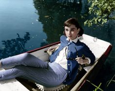 "Audrey Hepburn in ""Love In The Afternoon"" (1957)"
