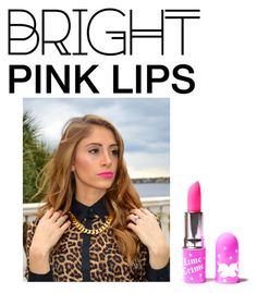 """Bright Pink Lipstick<3"" by soccerstar59777 ❤ liked on Polyvore featuring beauty, Lime Crime and pinklips"