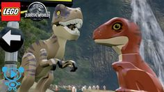 LEGO DINOSAURIER Baby 's T-Rex und Velociraptor spielen im Jurassic Park...