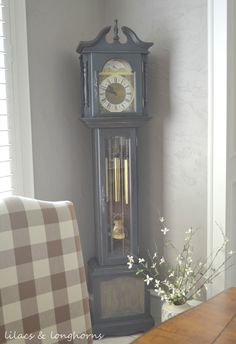 A Grandfather Clock Makeover and a Little History - Lilacs and LonghornsLilacs and Longhorns