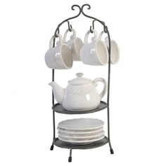 Cup, Saucer and Teapot with Stand